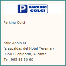 parking colci